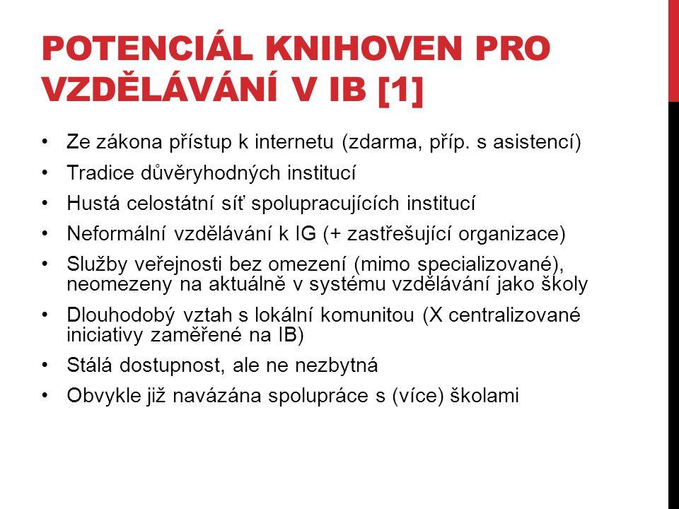 POTENCIÁL KNIHOVEN PRO VZDĚLÁVÁNÍ V IB [1]
